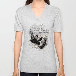 Edgar Allan Poe The Raven Nevermore Gothic Literature Unisex V-Neck