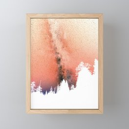 White pine trees Framed Mini Art Print