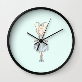 Ice Fan Girl 1 Wall Clock