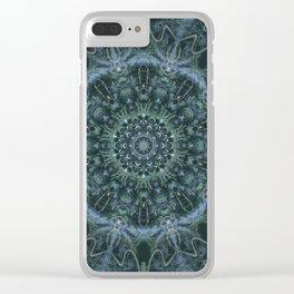 Mandala - Down The Hatch - Blue Clear iPhone Case