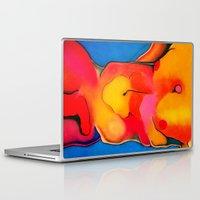 nudes Laptop & iPad Skins featuring Nudes: Atlas II by Adam James David Anderson