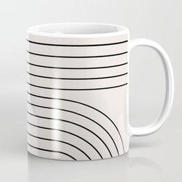 Minimal Line Curvature - Black and White I Coffee Mug