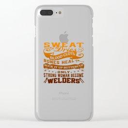 Welder Woman Clear iPhone Case