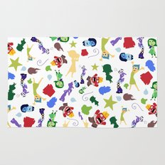 character pattern inside out Rug