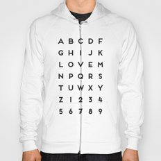 Letter Love - White Hoody
