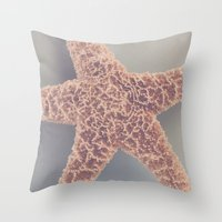 starfish Throw Pillows featuring Starfish by Jessica Torres Photography