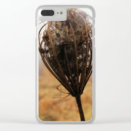 Queen Anne's Lace III Clear iPhone Case