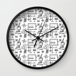 Science Pattern Wall Clock
