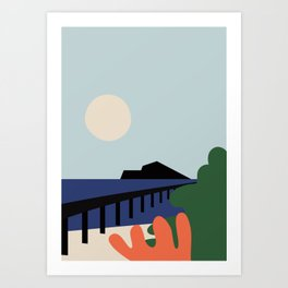 Summer day Art Print