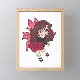 Fairy Rose magic fairy tale girl gift Framed Mini Art Print