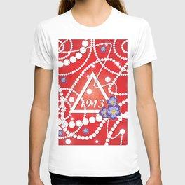 Crimson and Pearls T-shirt