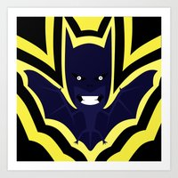 bat Art Prints featuring bat by Nir P