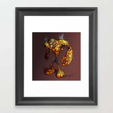 ZOMBIE THE THING Framed Art Print