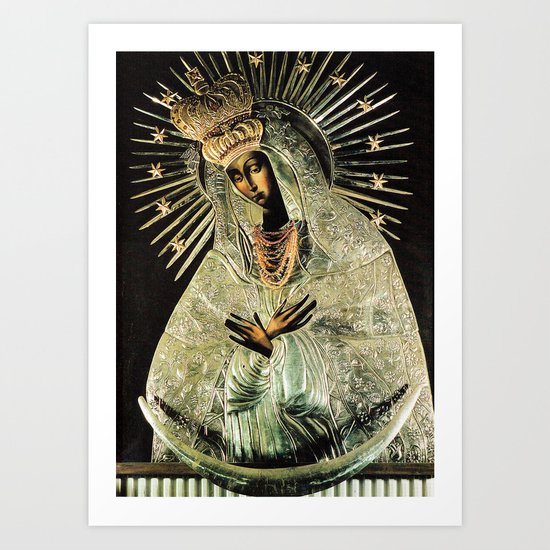 Our Lady Gate of Dawn Virgin Mary of Sharp Gate Madonna without Child Christmas Gift Religion Art by shopartpoland