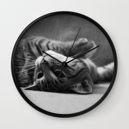 Kitty is Less Than Three Dice Wall Clock