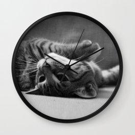Kitty is Less Than Three Dice Wall Clock