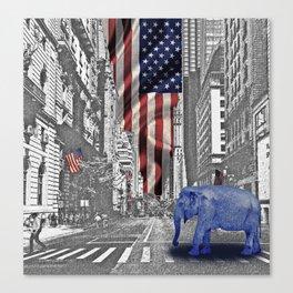 Elephant in New York I Canvas Print