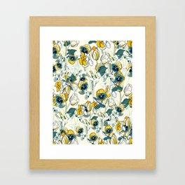 vintage floral pattern 3 Framed Art Print