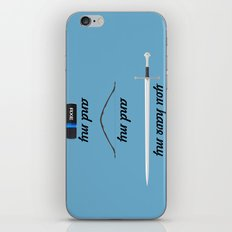 You Have - Lord of The Rings iPhone & iPod Skin
