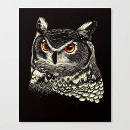 Bright-Eyed Owl Canvas Print