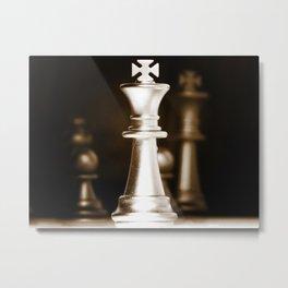 Chess-Sliver King Metal Print