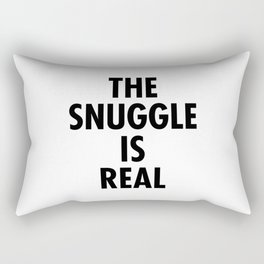 The Snuggle Is Real - Futura Rectangular Pillow
