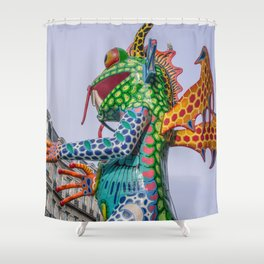 Monster frog Shower Curtain