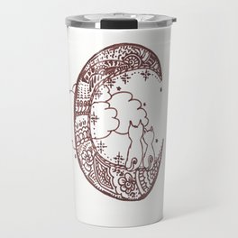 44. Cat Lovers on the Moon with Henna Travel Mug