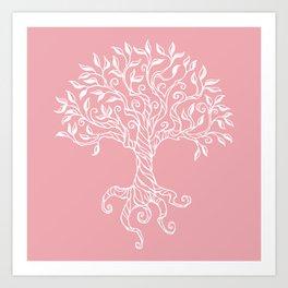 Tree of Life Pink Art Print