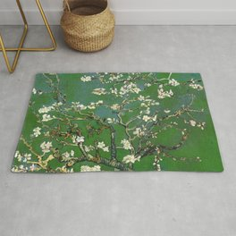 Almond Blossom - Vincent Van Gogh (avocado pastel) Rug