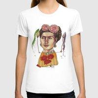 frida T-shirts featuring FRIDA by busymockingbird