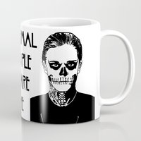 kris tate Mugs featuring Tate  by Rachcox