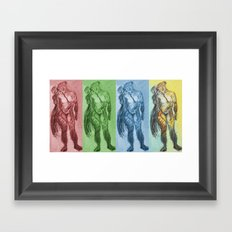Untitled Figure Study Framed Art Print
