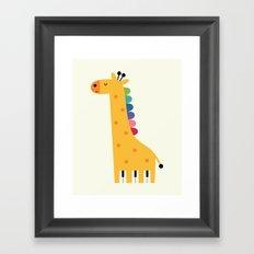Giraffe Piano Framed Art Print
