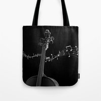 cello Tote Bags featuring My Cello by society6-BIG
