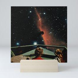 Astro Sail - Space Aesthetic, Retro Futurism, Sci Fi Mini Art Print