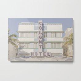 South Beach, Miami Art Deco Metal Print