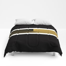 Team Colors 3....Gold, black white Comforters