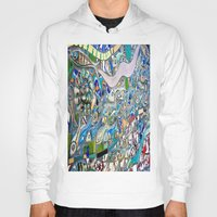 bathroom Hoodies featuring Venice Beach Bathroom Art by Kim Ramage