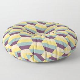 Striped Hexagons Floor Pillow
