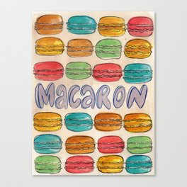 Macaron NOT Macaroon Canvas Print