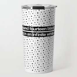 2014 Particles - White Travel Mug