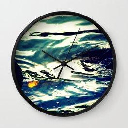 Swirls Of Blue Wall Clock