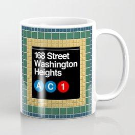 subway washington heights sign Coffee Mug