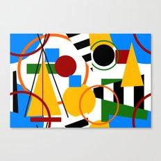 Abstract Art Deco Bermuda Canvas Print