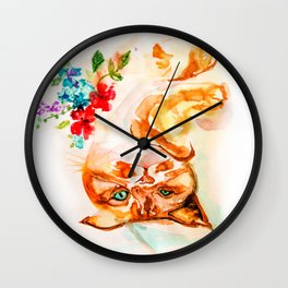 Ginger Kitty - decide what you stand for Wall Clock