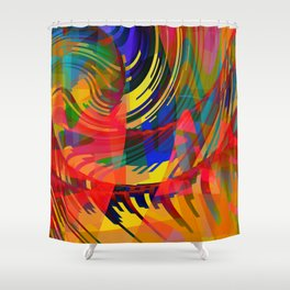 turbulance Shower Curtain