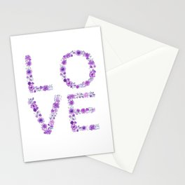 Floral Love Lilac Flowers Stationery Cards