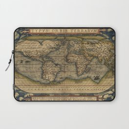 Antique Map of North and South America Laptop Sleeve