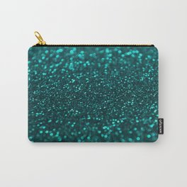 TEAL SPARKLING GLITTER LIGHTS Carry-All Pouch